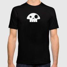 Mushroom Skull Black Mens Fitted Tee MEDIUM