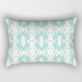 Blue Octacluar Octopus Rectangular Pillow