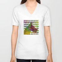great dane V-neck T-shirts featuring Great Dane Jester by Erin Conover