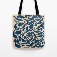 whales Tote Bags featuring Whales by Amanda Lima