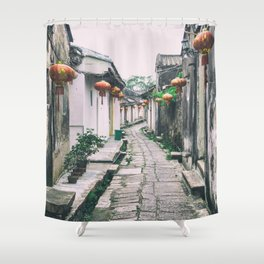 chinese ancient village Shower Curtain