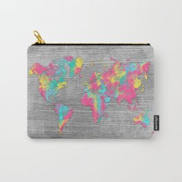 world map 80 colors Carry-All Pouch