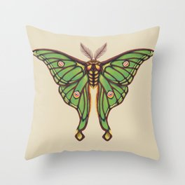 Spanish Luna Moth Throw Pillow