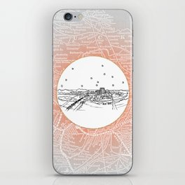 Chattanooga, Tennessee City Skyline Illustration Drawing iPhone Skin