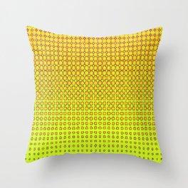 CONTEMPORARY MODERN YELLOW-ORANGE OPTIC Throw Pillow