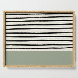 Sage Green x Stripes Serving Tray