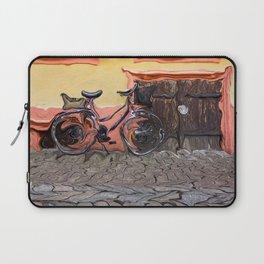 Bicycle On Sidewalk Laptop Sleeve