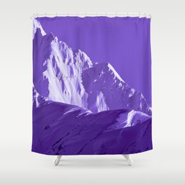 Alaskan Mts. I, Bathed in Purple Shower Curtain
