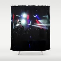 concert Shower Curtains featuring CONCERT by Eclectic House Of Art