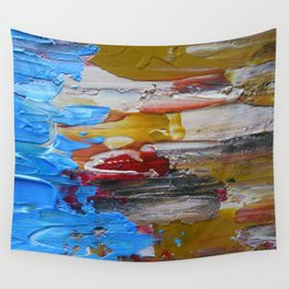 Beach Tide Acrylics On Stretched Canvas Wall Tapestry