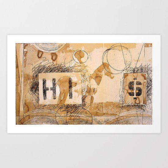 HI dollar Art Print
