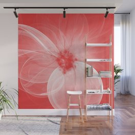 Red Fairy Blossom Fractal Wall Mural