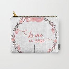 La Vie en rose Typography Carry-All Pouch