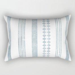 Chambray aztec stripe Rectangular Pillow