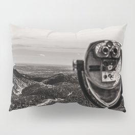 Mountain Tourist Binoculars Black and White Pillow Sham