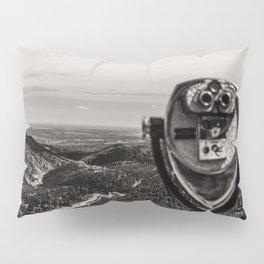 Mountain Tourist Binoculars Black and White Pillow Sham