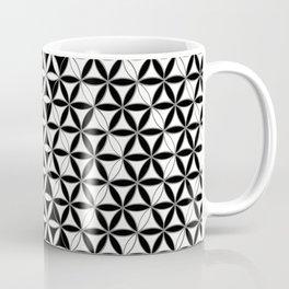 Flower of Life Black White Pattern 8 Coffee Mug