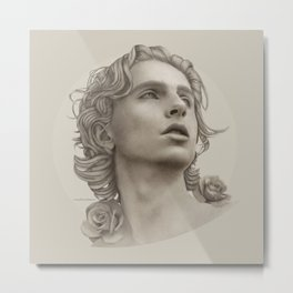 TIMOTHÉE CHALAMET Metal Print