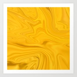Tangerine Yellow Candlelight Art Print
