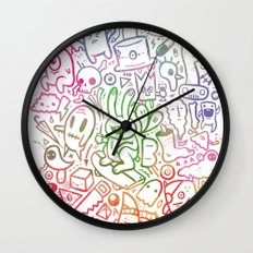 stuff (colorful version) Wall Clock