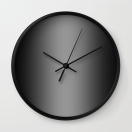 Black to Gray Vertical Bilinear Gradient Wall Clock