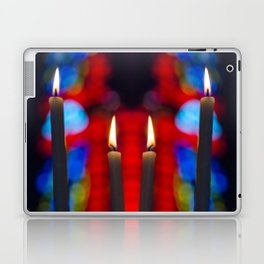 Candles in church Laptop & iPad Skin