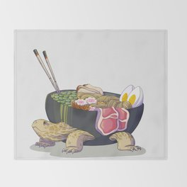 Ramen tortoise Throw Blanket
