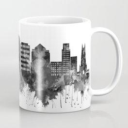 Durham North Carolina Skyline BW Coffee Mug