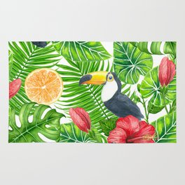 Tropical pattern Rug