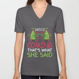 Christmas is coming - Santa, Nicholas Unisex V-Neck