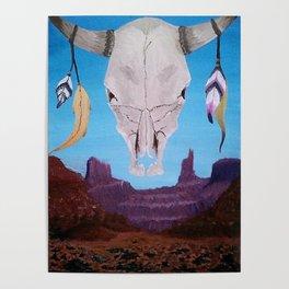 Southwest Skull Poster