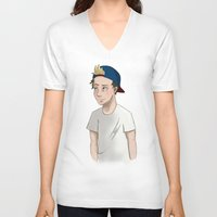 niall horan V-neck T-shirts featuring Niall Horan by Lunnorart