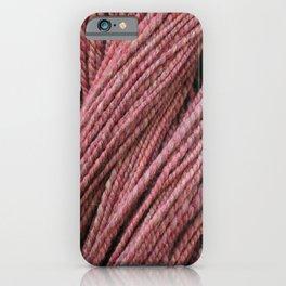 Pink Mauve Handspun Yarn iPhone Case