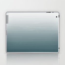 White to dark duck egg greyish blue gradient ombre painted appearance Laptop & iPad Skin