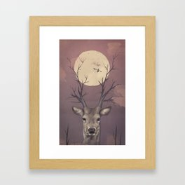 Deer Soul Framed Art Print