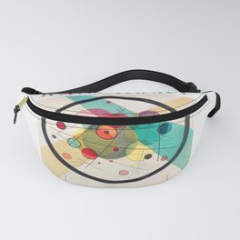 Kandinsky - Circles in a Circle (1923) - Abstract Art Classic - [With Details] Fanny Pack