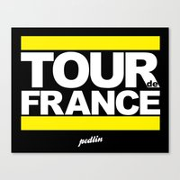 tour de france Canvas Prints featuring Tour de France by Pedlin
