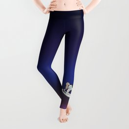 Toy Soldier with Rocking Horse on Christmas Eve Leggings