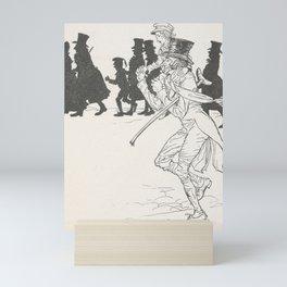 Arthur Rackham - Dickens' Christmas Carol (1915): Bob and Tiny Tim Mini Art Print