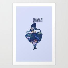 Alice in Wonderland - Blue Art Print