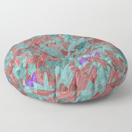Moth Melee Floor Pillow
