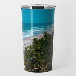 Waves and Palms Travel Mug