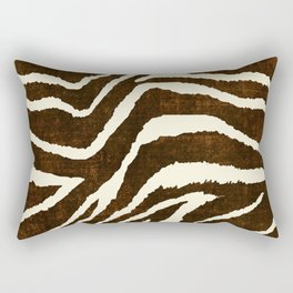 ANIMAL PRINT ZEBRA IN WINTER 2 BROWN AND BEIGE Rectangular Pillow