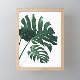 Tropical Monstera Finesse #1 #minimal #decor #art #society6 Framed Mini Art Print