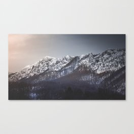 Snowy Mountain Range Canvas Print