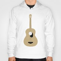guitar Hoodies featuring GUITAR by Allyson Johnson