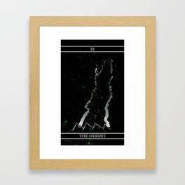 A Tarot of Ink Major Arcana IX The Hermit Framed Art Print