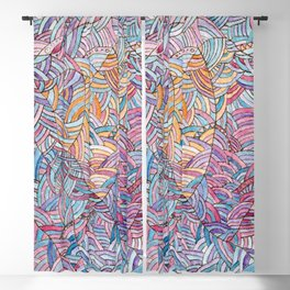 Сloudy sky - Abstract doodle watercolor background Blackout Curtain