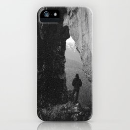 Through the Looking Glass - Black and White Photograph in taken in Oregon iPhone Case