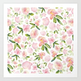 Early bloomers Art Print